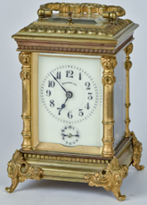 Tiffany & Co Carriage Repeater Clock