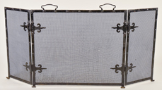Arts & Crafts Wrought Iron Fire Screen