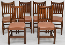 Set Six Contemporary Stickley Dinning Chairs