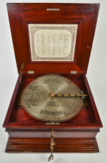 "Regina 15 1/2"" Disc Music Box"