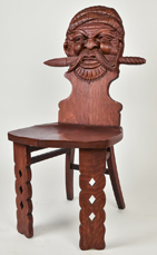 Carved Plank Seat Pirate Chair