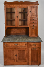 Unusual Oak  Pull-Out Kitchen Cupboard