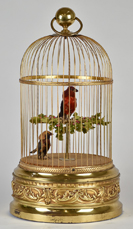 French Double Singing Automaton Bird Cage