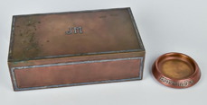 Heintz Sterling on Bronze Cigar Humidor, Plus
