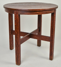 J.M. Young Round Lamp Table