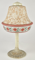Pittsburgh Boudoir Lamp With Acid Cut Back Shade