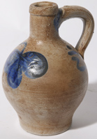 SMALL BLUE DECORATED JUG