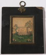 1838 ROXENA VALENTINE MOURNING WATERCOLOR