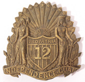 12TH N.Y. INFANTRY CIVIL WAR HAT BADGE