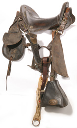 CIVIL WAR SADDLE WITH CSA MARKINGS