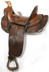 EARLY HIGH BACK WESTERN ROPING SADDLE