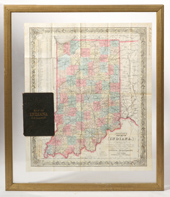 COLTON'S 1852 POCKET MAP OF INDIANA