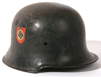 WWII THIRD REICH DOUBLE DECAL HELMET