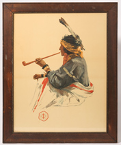 LATE 19TH CENTURY NATIVE AMERICAN LITHOGRAPH