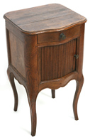 LOUIS XV NIGHT STAND W/TAMBOUR FRONT
