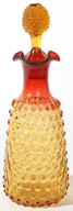 AMBERINE HOBNAIL ART GLASS DECANTER
