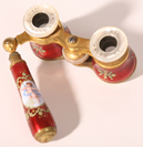 PR. OF FRENCH ENAMELED OPERA GLASSES