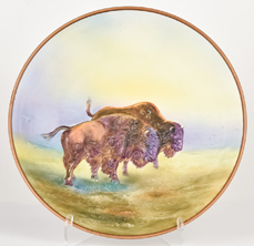 Nippon Buffalo Molded in Relief Plaque
