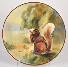 Nippon Squirrel Molded In Relief Plaque