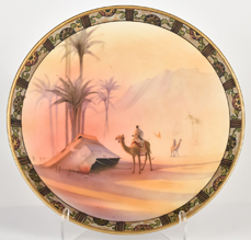 Nippon Man on Camel in Desert Scenic Plaque