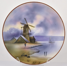 Nippon Scenic Plate with Windmill Scene