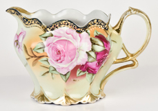 Nippon Molded Pitcher with  Roses