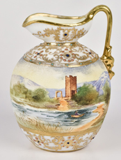 Nippon Scenic Tapestry Ewer
