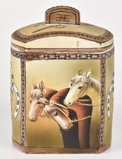 Nippon Molded in Relief Horses Humidor