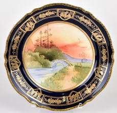 Nippon Cobalt Blue Scenic Plate