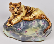 Scarce Nippon Ashtray with Full Figure Tiger