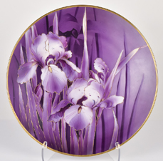 Nippon Plaque with Purple Irises