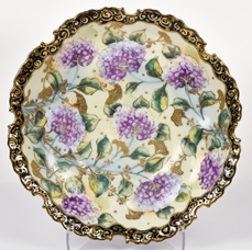 Nippon Scalloped Edge Bowl with Floral Decoration
