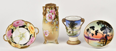 Group of Nippon Vases and Bowls
