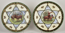 Two Nippon Elk Plaques