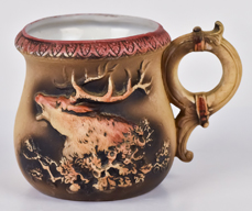 Nippon Mug with Molded in Relief Elk.