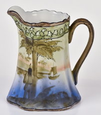 Nippon Scenic Pitcher with Indian at Tree