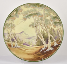 Nippon Scenic White Woodland Plaque