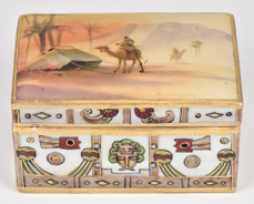 Nippon Covered Box with Man on Camel Scene