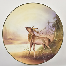 Nippon Elk Molded in Relief Plaque