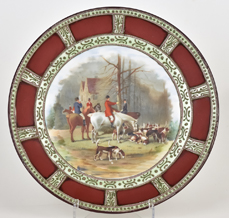 Nippon Plaque with Hunt Scene